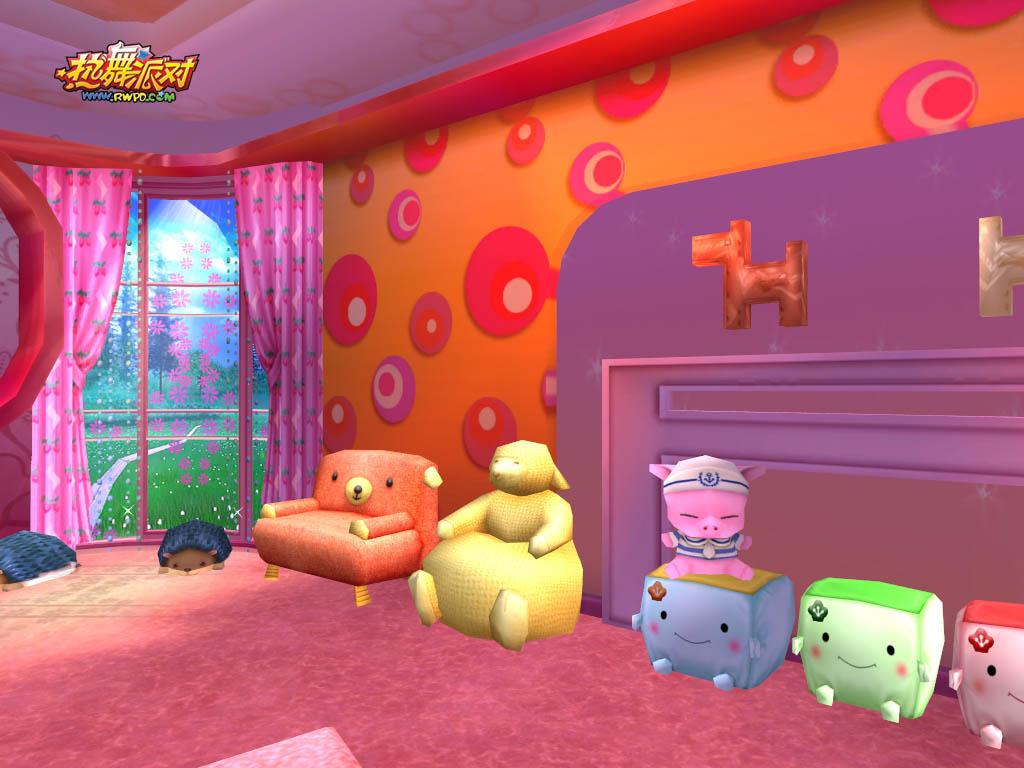 房间内超可爱的小动物沙发