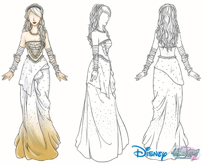服装裙子手绘图片
